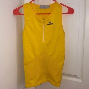 Adidas Stella McCartney yellow barricade tank